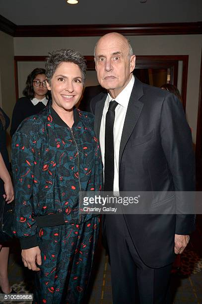 Writer/producer Jill Soloway and actor Jeffrey Tambor attend the Cocktail Reception before the 2016 Writers Guild Awards at the Hyatt Regency Century...