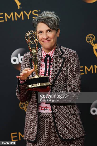 Writer/producer Jill Soloway winner of the Oustanding Directing for a Comedy Series award for the 'Transparent' episode 'Man on the Land' poses in...