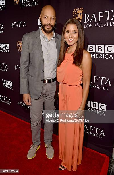 Writer/producer John Ridley and Gayle Ridley attend the 2015 BAFTA Los Angeles TV Tea at SLS Hotel on September 19 2015 in Beverly Hills California