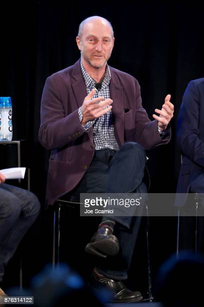 Writer/producer Jonathan Ames speaks onstage during the 'Bored to Death Reunion' panel part of Vulture Festival LA presented by ATT at Hollywood...