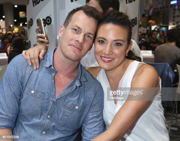 Writer/producer Jonathan Nolan and producer Lisa Joy attend the Westworld signing during San Diego ComicCon 2017 at San Diego Convention Center on...