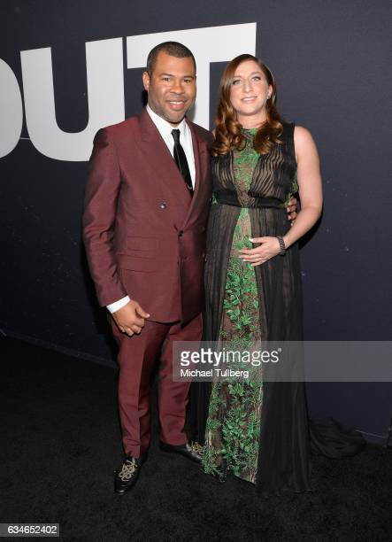 Writer/Producer Jordan Peele and actress Chelsea Peretti attend a screening of Universal Pictures' 'Get Out' at Regal LA Live Stadium 14 on February...