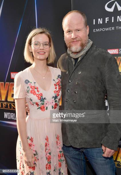 Writerproducer Joss Whedon and guest attends the Los Angeles Global Premiere for Marvel Studios' Avengers Infinity War on April 23 2018 in Hollywood...