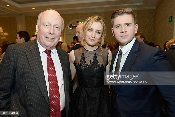 Writer/producer Julian Fellowes actors Laura Carmichael in Mulberry and Allen Leech in Mulberry attend the BAFTA Los Angeles Tea Party at The Four...