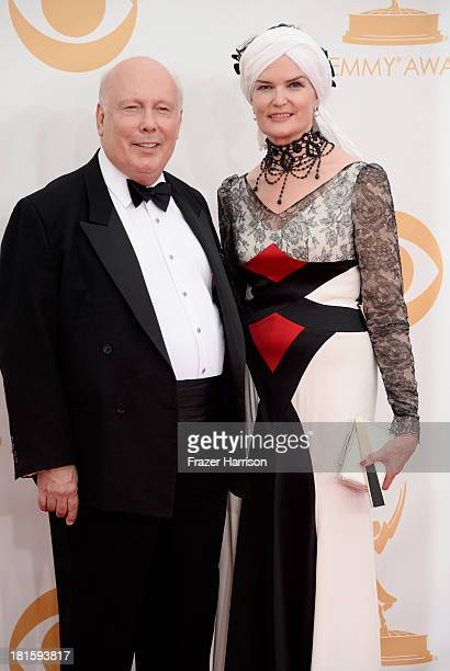 Writer/producer Julian Fellowes and Emma Fellowes arrive at the 65th Annual Primetime Emmy Awards held at Nokia Theatre LA Live on September 22 2013...