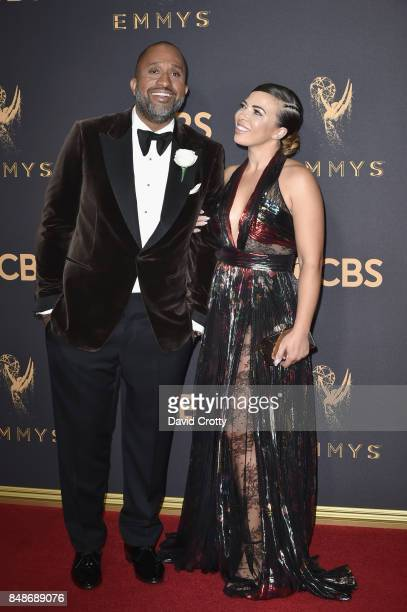 Writer/producer Kenya Barris and Dr Rainbow EdwardsBarris attend the 69th Annual Primetime Emmy Awards at Microsoft Theater on September 17 2017 in...