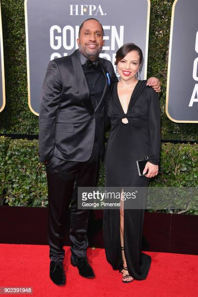 Writer/Producer Kenya Barris and Dr Rainbow EdwardsBarris attend The 75th Annual Golden Globe Awards at The Beverly Hilton Hotel on January 7 2018 in...