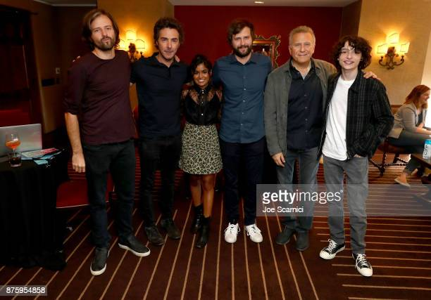 Writer/producer Matt Duffer producer Shawn Levy actor Linnea Berthelsen writer/producer Ross Duffer actor Paul Reiser and actor Finn Wolfhard attend...