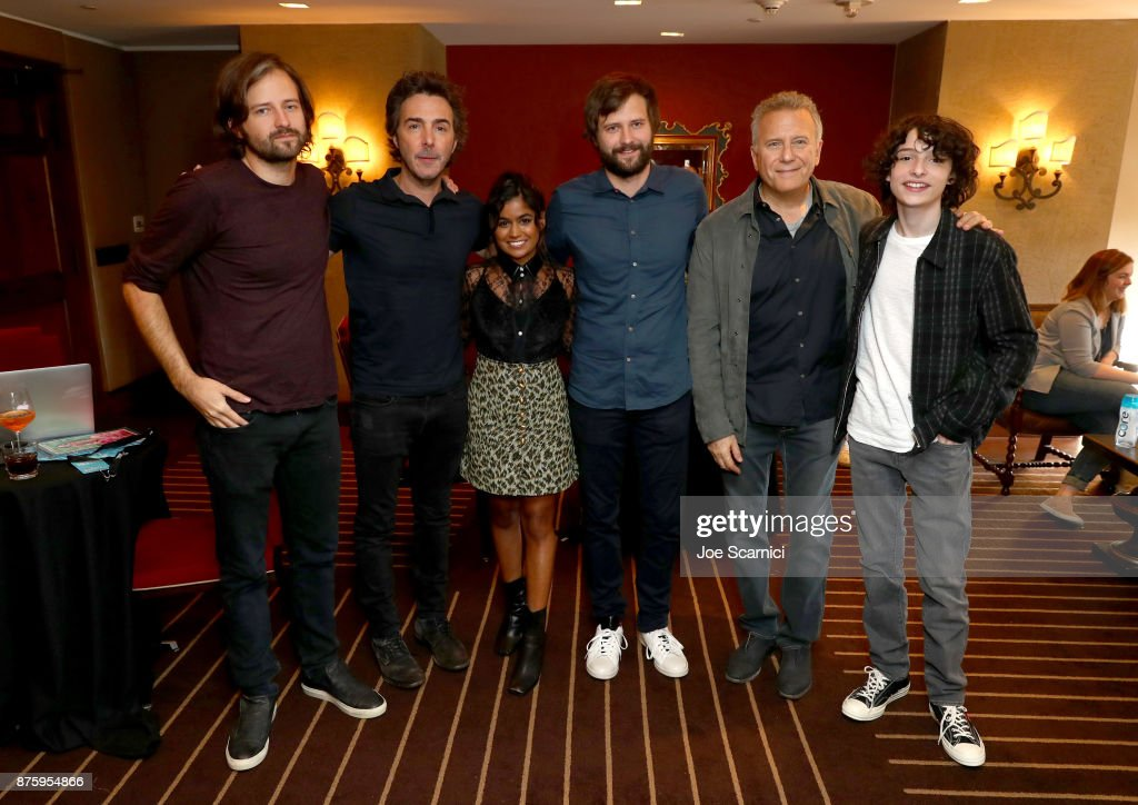 Writer/producer Matt Duffer, producer Shawn Levy, actor Linnea Berthelsen, writer/producer Ross Duffer, actor Paul Reiser and actor Finn Wolfhard attend the 'Stranger Things: Inside the Upside Down' panel, part of Vulture Festival LA Presented by AT&T at Hollywood Roosevelt Hotel on November 18, 2017 in Hollywood, California.