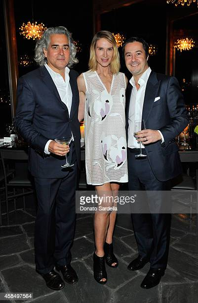 Writer/producer Mitch Glazer actress Kelly Lynch and CEO of TOD's North America Roberto Lorenzini attend a private dinner hosted by VOGUE to...