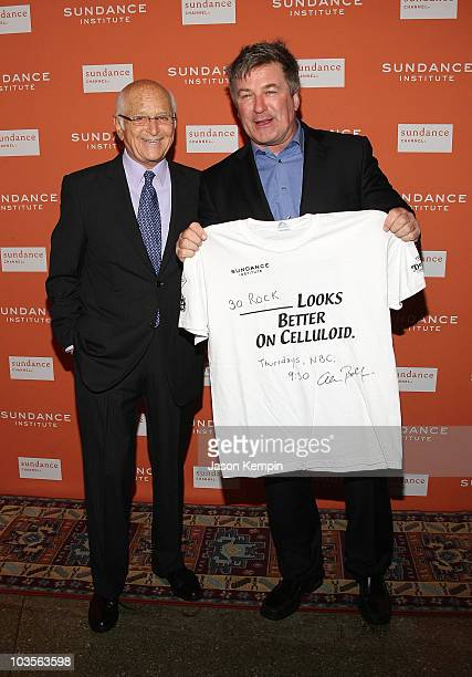 Writer/producer Norman Lear and actor Alec Baldwin attend the 2008 Sundance Gala at Roseland Ballroom on October 27 2008 in New York City