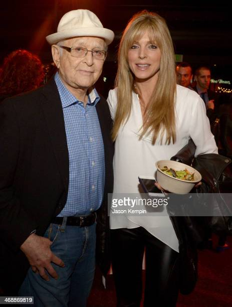 Writer/producer Norman Lear and actress Marla Maples celebrate the world premiere of Farmed and Dangerous a Chipotle/Piro production at DGA Theater...