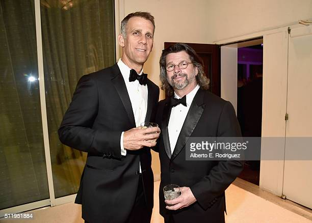 Writer/producer Ronald D. Moore and guest attend the 18th Costume Designers Guild Awards with Presenting Sponsor LACOSTE at The Beverly Hilton Hotel...