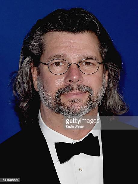 Writer/producer Ronald D. Moore attends the 18th Costume Designers Guild Awards with Presenting Sponsor LACOSTE at The Beverly Hilton Hotel on...