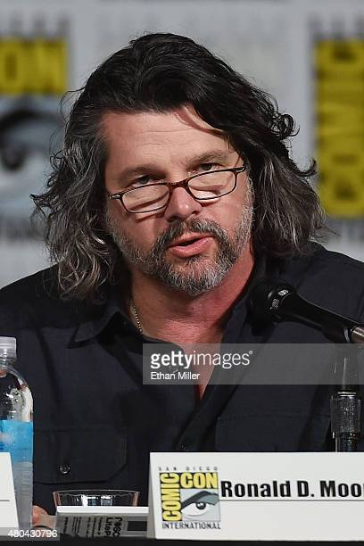 """Writer/producer Ronald D. Moore attends the Starz: """"Outlander"""" panel during Comic-Con International 2015 at the San Diego Convention Center on July..."""