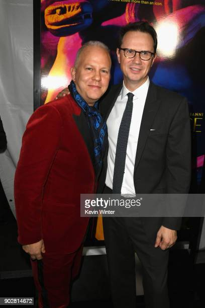 """Writer/producer Ryan Murphy and Chief Executive Officer of Fox Networks Group Peter Rice attends the premiere of FX's """"The Assassination Of Gianni..."""