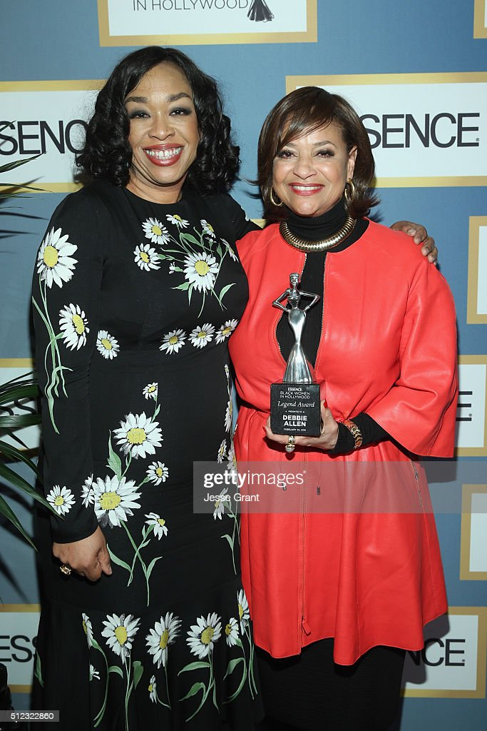 Writer/producer Shonda Rhimes and honoree Debbie Allen pose with an award during the 2016 ESSENCE Black Women In Hollywood awards luncheon at the Beverly Wilshire Four Seasons Hotel on February 25, 2016 in Beverly Hills, California.