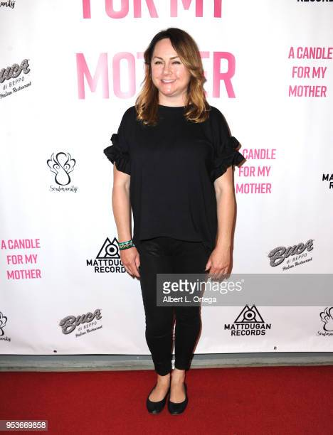 Writer/producer Stacey Healey arrives for a luncheon in honor of Mother's Day for the release of Pamela L Newton's 'A Candle For My Mother' held at...