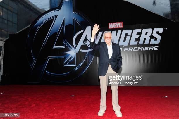 "Writer/producer Stan Lee attends the premiere of Marvel Studios' ""Marvel's The Avengers"" held at the El Capitan Theatre on April 11, 2012 in..."