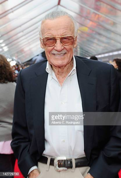 Writer/producer Stan Lee attends the premiere of Marvel Studios' Marvel's The Avengers held at the El Capitan Theatre on April 11 2012 in Hollywood...