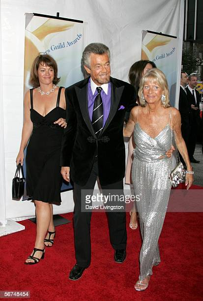 Writer/Producer Stephen J Cannell and wife Marcia Finch and guest arrive at the 2006 Writers Guild Awards held at The Hollywood Palladium on February...