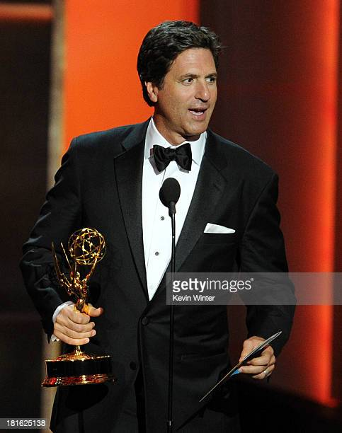 Writer/producer Steven Levitan accepts the award for Best Comedy Series for 'Modern Family' onstage during the 65th Annual Primetime Emmy Awards held...