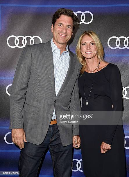 Writer/producer Steven Levitan and Krista Levitan attend Audi Emmy Week Celebration at Cecconi's Restaurant on August 21 2014 in Los Angeles...
