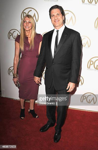 Writer/producer Steven Levitan and Krista Levitan attend the 25th annual Producers Guild of America Awards at The Beverly Hilton Hotel on January 19...