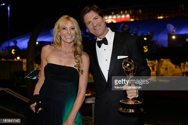 Writer/producer Steven Levitan and Krista Levitan attend the Governors Ball during the 65th Annual Primetime Emmy Awards at Nokia Theatre LA Live on...