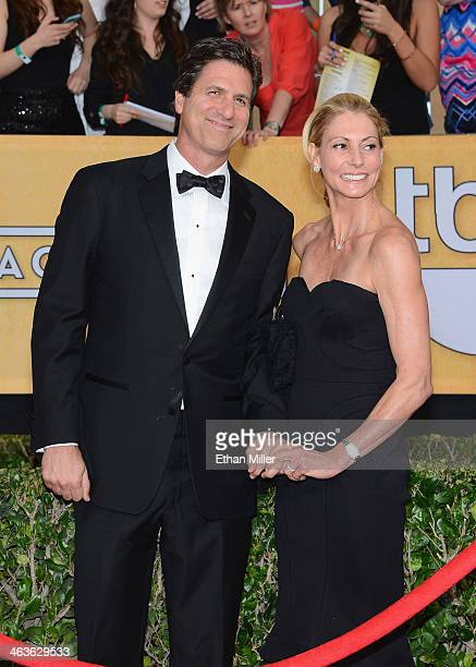 Writerproducer Steven Levitan and wife Krista Levitan attend the 20th Annual Screen Actors Guild Awards at The Shrine Auditorium on January 18 2014...