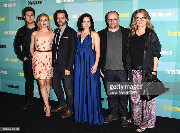 Writer/producer Terry Matalas actors Amanda Schull Aaron Stanford Emily Hampshire writer/producer Travis Fickett and actress Barbara Sukowa attend...