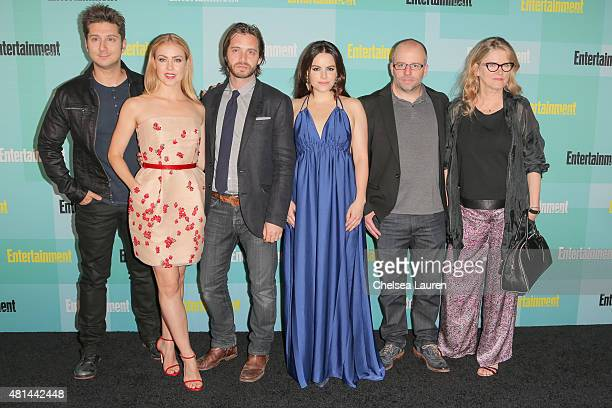 Writer/producer Terry Matalas actors Amanda Schull Aaron Stanford Emily Hampshire writer/producer Travis Fickett and actress Barbara Sukowa arrive at...
