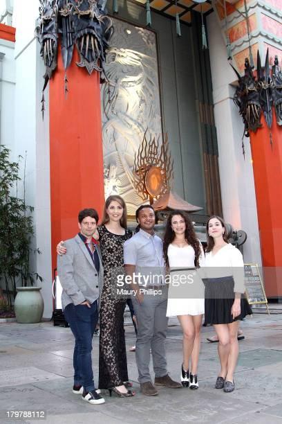 Writer/producer Tim Doiron actress Ellen Dubin actor Brandon Jay McLaren director/producer Aprli Mullen and actress Martha Macisaac arrive at Dead...