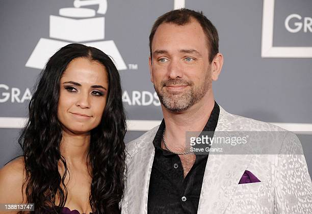 Writerproducer Trey Parker and wife Emma Sugiyama arrive at The 54th Annual GRAMMY Awards at Staples Center on February 12 2012 in Los Angeles...