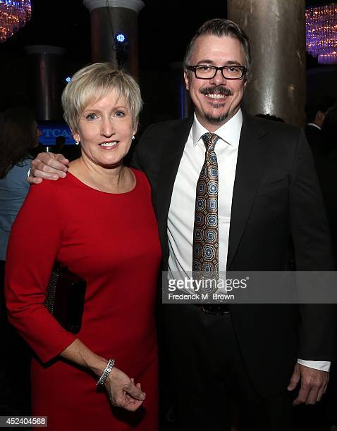 Writer/producer Vince Gilligan and Holly Rice attend the 30th Annual Television Critics Association Awards at The Beverly Hilton Hotel on July 19...