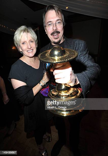 Writer/producer Vince Gilligan and Holly Rice attend the 38th Annual Saturn Awards after party held at Castaways on July 26 2012 in Burbank California