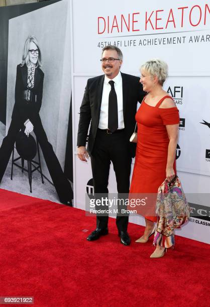 Writerproducer Vince Gilligan and producer Holly Rice arrive at American Film Institute's 45th Life Achievement Award Gala Tribute to Diane Keaton at...