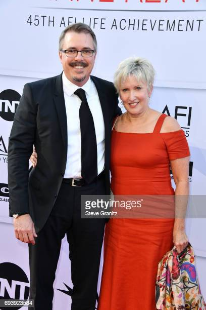 Writerproducer Vince Gilligan and producer Holly Rice arrive at the AFI Life Achievement Award Gala Tribute to Diane Keaton at Dolby Theatre on June...