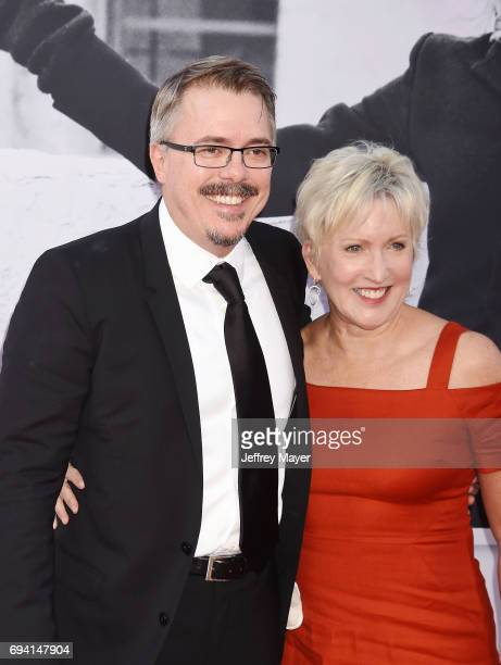 Writerproducer Vince Gilligan and producer Holly Rice arrive at the AFI Life Achievement Award Gala Tribute To Diane Keaton at the Dolby Theater on...