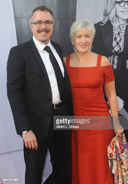 Writerproducer Vince Gilligan and producer Holly Rice arrive for the AFI Life Achievement Award Gala Tribute To Diane Keaton held on June 8 2017 in...