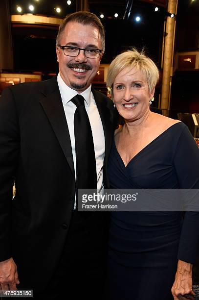 Writer/producer Vince Gilligan and producer Holly Rice attend the 43rd AFI Life Achievement Award Gala honoring Steve Martin at Dolby Theatre on June...