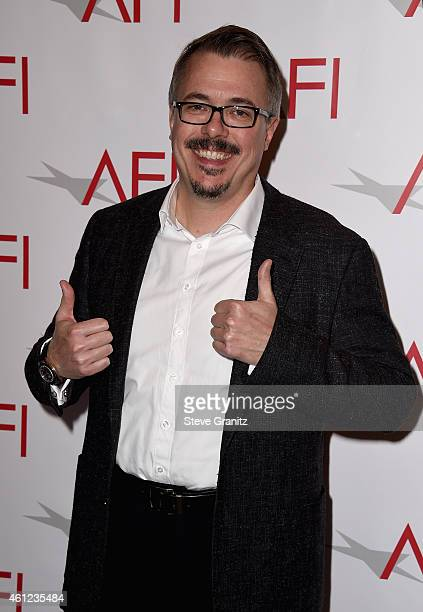 Writerproducer Vince Gilligan attends the 15th Annual AFI Awards at Four Seasons Hotel Los Angeles at Beverly Hills on January 9 2015 in Beverly...