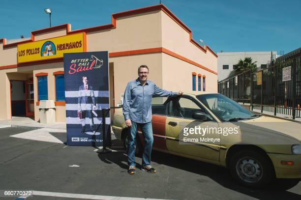 Writer/producer Vince Gilligan attends the Los Pollos Hermanos popup at Los Pollos Hermanos on March 30 2017 in Los Angeles California