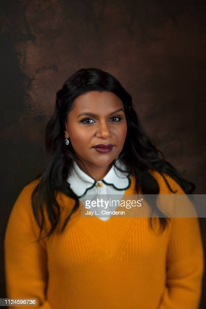 Writer/producer/actress Mindy Kaling from 'Late Night' is photographed for Los Angeles Times on January 26 2019 at the 2019 Sundance Film Festival in...