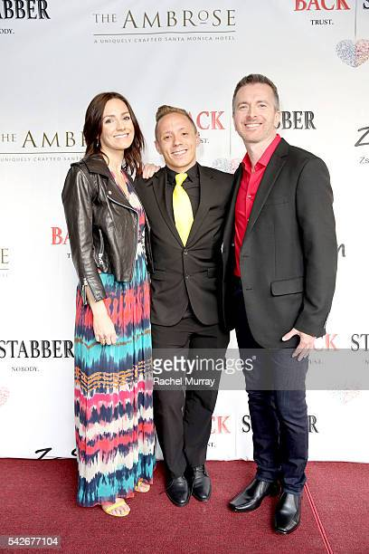Writer/Producer/CoDirector/Actor Ryan Zamo actors Karma McCain and Tom Mclaren attend the red carpet premiere for the new Amazon series 'Back...