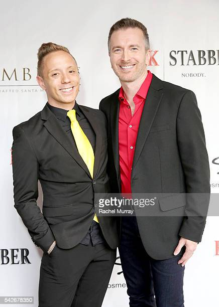 Writer/Producer/CoDirector/Actor Ryan Zamo and actor Tom Mclaren attend the red carpet premiere for the new Amazon series 'Back Stabber' at the...