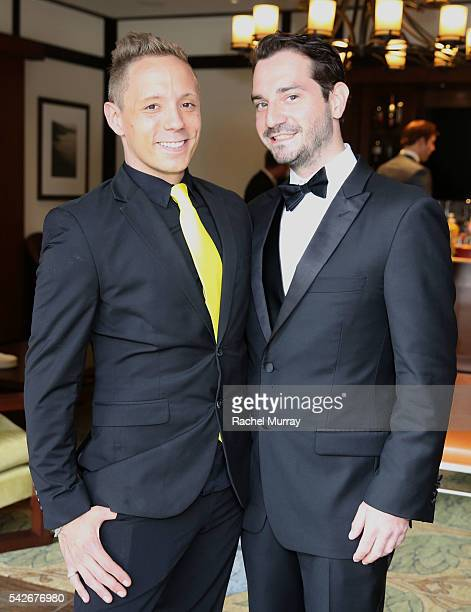 Writer/Producer/CoDirector/Actor Ryan Zamo and Executive Producer/CoDirector Jordan Fraser attend the red carpet premiere for their new Amazon series...