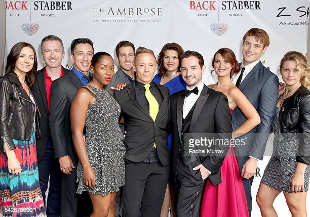 Writer/Producer/CoDirector/Actor Ryan Zamo and Executive Producer/CoDirector Jordan Fraser and cast attend the red carpet premiere for their new...