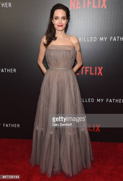 Writer/producer/director Angelina Jolie attends the 'First They Killed My Father' New York premiere on September 14 2017 in New York City