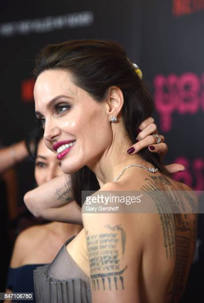 Writer/producer/director Angelina Jolie attends the First They Killed My Father New York premiere on September 14 2017 in New York City